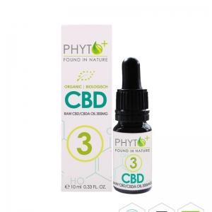 Phyto+ Organic CBD Oil drops 3% – 300mg cbd/cbda