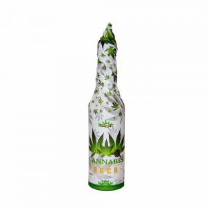 Cannabis Beer (330ml) – Hand Wrapped White – MULTITRANCE AMSTERDAM