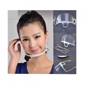 Μάσκα ασπίδα διάφανη προστασίας 2 λευκό