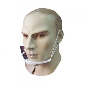 Μάσκα ασπίδα διάφανη προστασίας λευκό